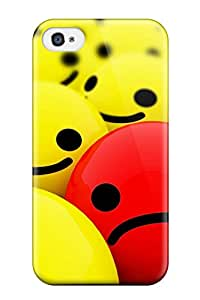 Excellent Iphone 4/4s Case Tpu Cover Back Skin Protector Funny One Red Sad Face