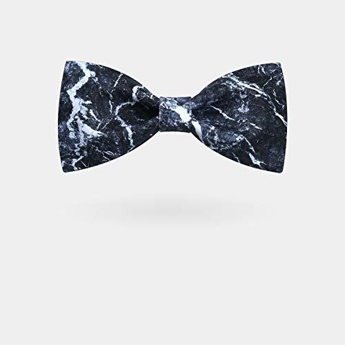 OYWNF Estampado de Piedra Negro Corbata Personalidad Vestido ...
