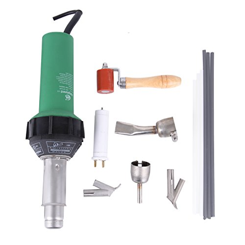 - 1500w Hot Air Torch Plastic Welding Gun Welder Pistol + 2 High Speed Nozzles +He Roller + PVC Pe Rods
