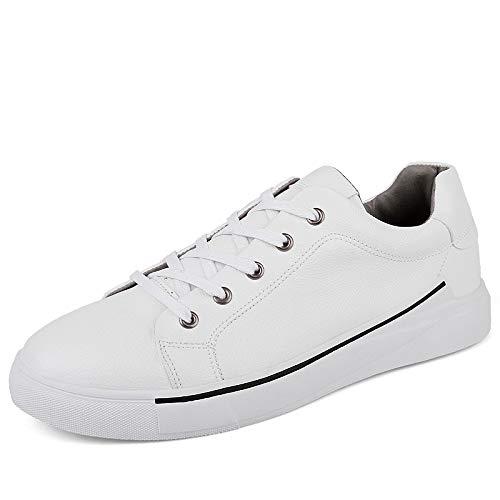 HCBYJ scarpe Scarpe sportive da uomo primavera e autunno scarpe sportive fondo piatto cinghia moda uomo PU scarpe vulcanizzate