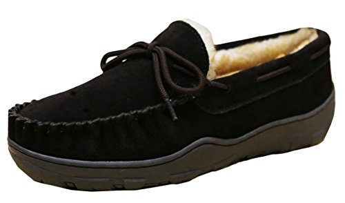 Tamarac by Slippers International Men's Utah Shearling Lined Moccasin (11...