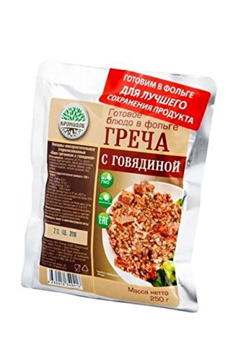 Russian hiking ration food Kronidov beef with buckwheat, exp. 2019 by Kronidov (Image #1)