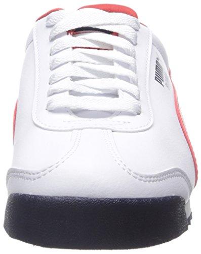 Puma - Zapatillas para hombre Blanco / rojo / negro (White/High Risk Red/Black)
