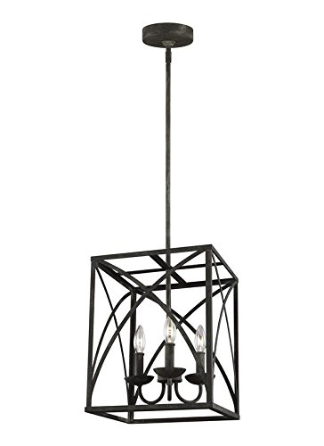 Feiss F3196/3IO Greenbrier Candle Chandelier Lighting, Iron, 3-Light (12