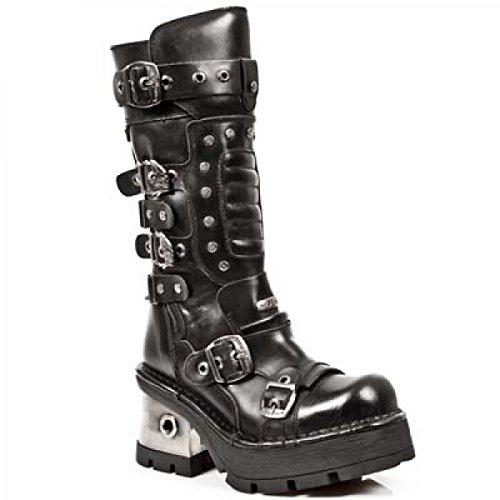 New Rock Laarzen M.1021-c1 Gothic Hardrock Punk Damen Stiefel Schwarz