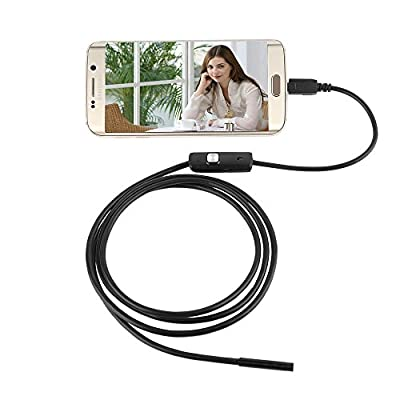 5.5mm 6 LED Android OTG USB Endoscope Camera IP67 Waterproof Inspection Snake Tube Borescope Pipe Locator With 1.5M Cable