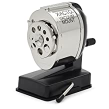 X-Acto Model KS, Vacuum-Mount Pencil Sharpener, Chrome Receptacle, Black Base, 1-Unit (1072T)