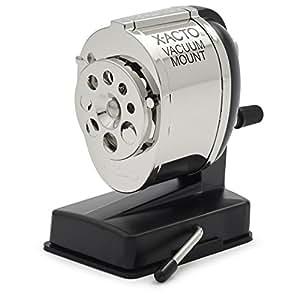 X-ACTO KS Manual Pencil Sharpener, Vacuum Mount, Silver