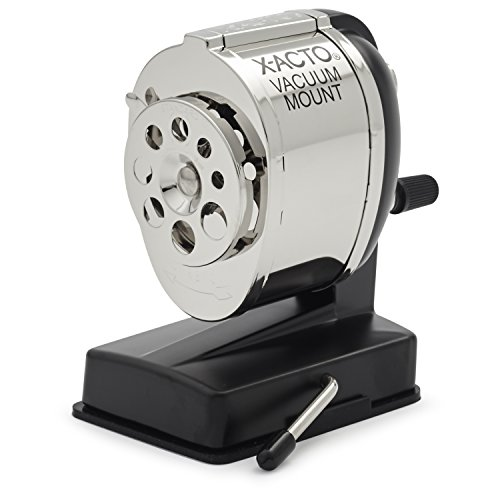 X-ACTO KS Manual Pencil Sharpener, Vacuum Mount, Silver