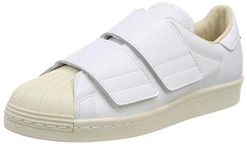 Cf footwear White Chaussures Gymnastique 0 White Femme linen W 80s De Adidas Blanc Superstar footwear 7UxFEE