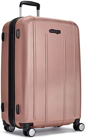 eBags EXO Checked Spinner 27 Inch Rose Gold