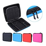 Travel Carrying Case Protective Carrying Case 2DS Case with Wrist Strap for Nintendo 2DS(PINK)