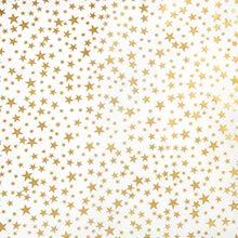 Gold Stars Tissue Paper - Gold Stars On White Tissue Paper 20