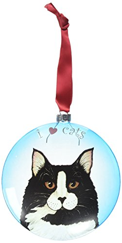 Akc Christmas Ornament (Rescue Me Now Pavilion Gift, Tuxedo Cat Ornament, 5-Inches, Includes Ribbon for Hanging)