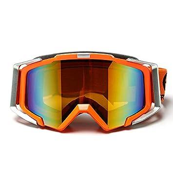 Man&Y Doble antivaho Gafas de esquí Motocicleta Jinete Hombres Mujeres Equipo a Campo traviesa Gafas de equitación al Aire Libre (Color : Green)