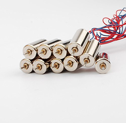 10 Pcs Coreless DC Motor Long cable high speed RC helicopter aircraft 3V 27mA 44300RPM high speed for helicopter model aircraft toys