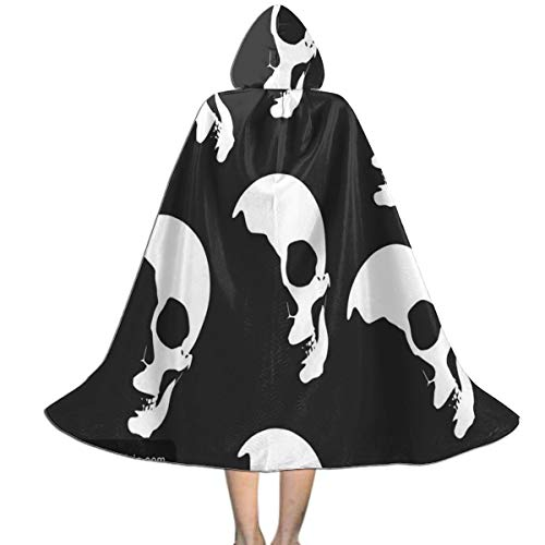 REDCAR Hooded Cloak Cape Skulls White Fashion Party Vampires Cosplay for Kids Girls Boys
