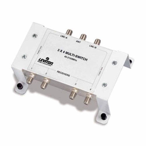 Leviton 47691-3MS 3x4 Satellite Multi Switch by Leviton