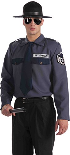 Forum Novelties Men's Men with Power State Trooper Costume Top, Multi, One Size -