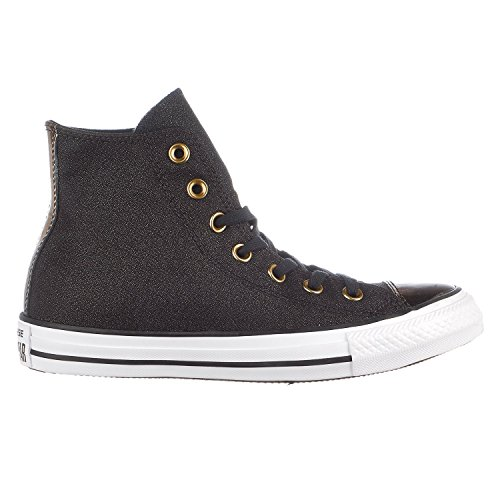 Black Chucks Black Gold Converse Off W Gold Toecap Black Light 553305F Brush BOO8an1wW