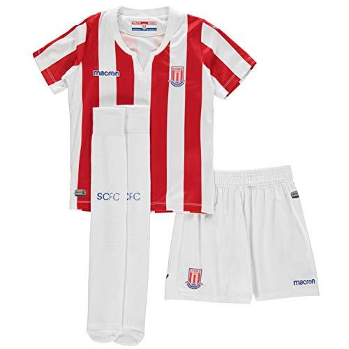 Macron Stoke City Home Mini Kit 2018 2019 Infants Red/White Football Soccer 1-2 Years
