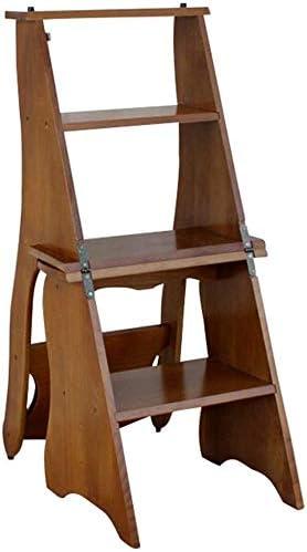 XIN Escaleras multiusos para niños Taburete de pie Taburete de bar Silla alta multifuncional Taburete Silla de escalera plegable Taburete de madera portátil de madera maciza Taburete de escalada de 4: Amazon.es: