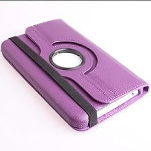 GX Caso de cuero rotativo con soporte para Samsung T210 (colores surtidos) , Purple