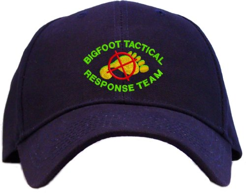Bigfoot Tactical Response Team Embroidered Baseball Cap - Navy