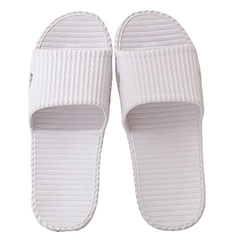 Nanxson(TM) Unisex PVC Solid Color Bathroom Anti Skid Slippers TX0015 (US women 8, white) (Kids Hobbit Feet)