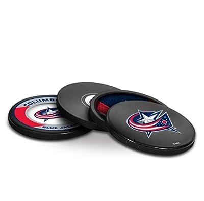 NHL Columbus Blue Jackets Puck Coasters Pack