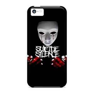 JohnPrimeauMaurice Iphone 5c Protective Cell-phone Hard Covers Customized Fashion Suicide Silence Image [bki3445GeJd]
