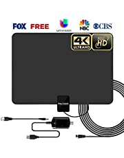[2019 Latest] Amplified TV Antenna 50-85 Miles Range - HD Digital TV Antenna