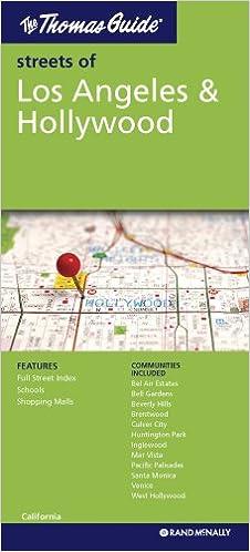 California Map Hollywood.Rand Mcnally Los Angeles Hollywood California Folded Map Rand