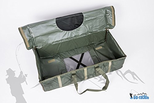 DD-Tackle DELUXE Karpfen Abhakmatte Carp Cradle 95 x 55 x 25 Soft PVC Material + Abdeckung Tasche 4uizB