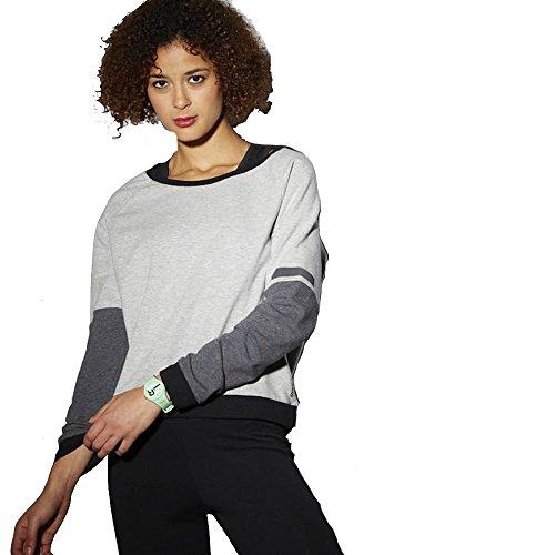Sweatshirts Crewneck Reebok - Reebok Wor C Crew Neck Women's Crossfit Sweatshirt (Grey, S)