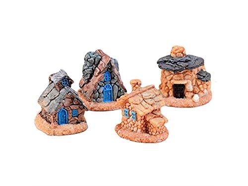 HSDDA Jard/ín de Hadas Jard/ín de Hadas en Miniatura casa de Piedra Micro Paisaje Adornos Accesorios de decoraci/ón para jard/ín Patio Home Top Adornos Colorido