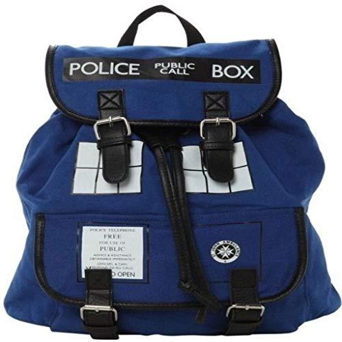 hainan Dr Who Backpack Slouch Shoulder Laptop Bag Limited Doctor Who Tardis Buckle Multi-Color Single Buckle Bag ()