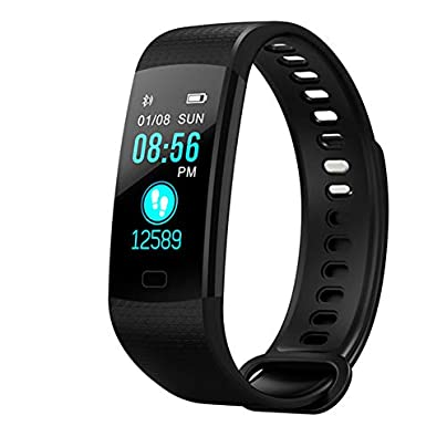 IOIOA Fitness Tracker Bluetooth Smart Bracelet with Heart Rate Blood Pressure Oxygen Real-Time Monitoring Information Push USB Charging Wristband Estimated Price £24.88 -