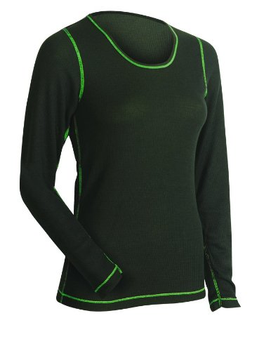 ColdPruf Women's Pro-Tek Single Layer Top, Black, XX-Large