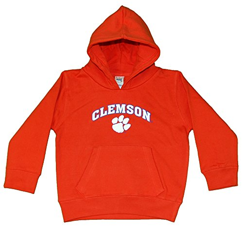 Little King NCAA Clemson Tigers Hooded Pullover, Youth Large, Orange