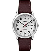 Men's T20041 Easy Reader Brown Leather Strap Watch