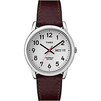 Amazon Com Timex Men S T20041 Easy Reader Brown Leather