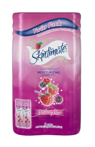 (Skintimate Raspberry Rain Shave Gel, Twin Pack 2x198G )