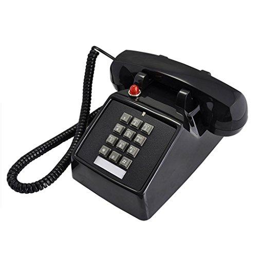 [해외]CHENGYI 복고풍 유럽 유선전화 아메리칸 스타일의 기계적 울림 크리에이티브 패션 전화 (색상: 블랙) / Chengyi Retro European fixed phone American style mechanical sounding creative fashion phone (color: Black)