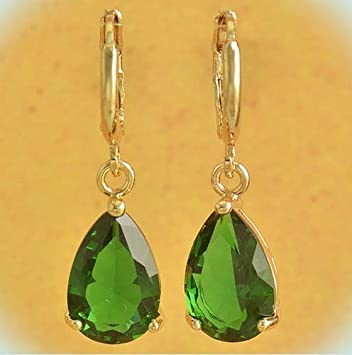 A PAIR OF ORANGE JADE  GOLD PLATED DANGLY  CLIP ON EARRINGS NEW.