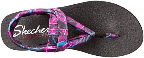 Skechers Cali Donna Meditazione Slingback Yoga Flip-flop Nero / Multi