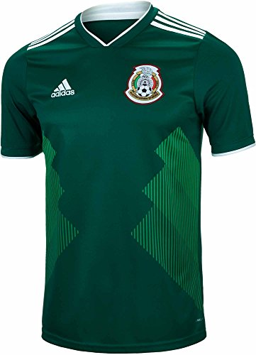 Mexico Training Jersey - adidas Men's 2018 Mexico Home Replica Jersey Collegiate Green/White Large