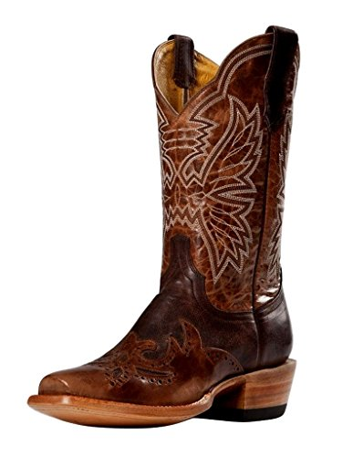 Cinch Women's Classic Chocolate Mad Dog Wingtip Cowgirl Boot Square Toe Chocolate 7.5 M (Chocolate Mad Dog)