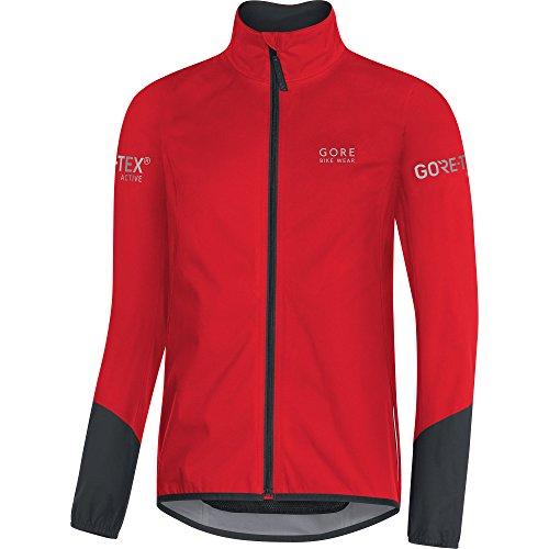 Gore Bike WEAR Men's Cycling Jacket, Gore-TEX Active, Power Jacket, Size: L, Red/Black, JGTPOW