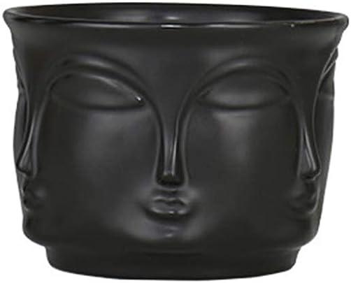 Yardwe Flower Vase Man Face Modern Ceramic Vase Flowers Pot Planters for Home Decoration Accessories